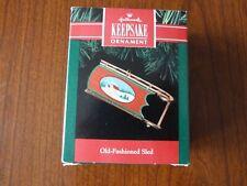 "Hallmark Keepsake Christmas Ornament - ""Old-Fashioned Sled"" 1991 New"