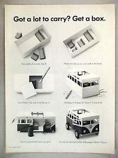 Volkswagen VW Bus Station Wagon  PRINT AD - 1962 ~~ get a box