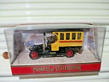 Matchbox Models of Yesteryear 1990 Black Roof Y44A 1910 RENAULT BUS New Boxed