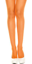 AMAZING NEON ORANGE FISHNET TIGHTS EIGHTIES LEG AVENUE 80'S FESTIVAL COLLANT