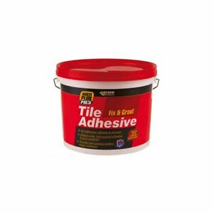 Tile Adhesive and Grout  Bathroom Kitchen & Shower Brilliant White 1.5kg