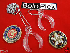 CHALLENGE COIN HOLDER, with Necklace & Key Ring, BOLOPICK
