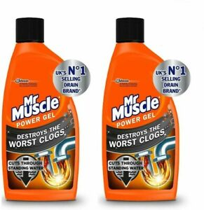 2 Pack of Mr Muscle Max Power Gel Sink & Drain Unblocker 500ml