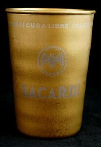 Bacardi White Rum Cuba Libre Metall Becher Metal Cup Cocktailbecher Emblem NEU