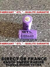 2 Piles 16340 3.7V 2300mAh Rechargeable Mignon - GTL - TRES PUISSANT - DE FRANCE