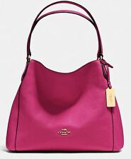 NWT! COACH Edie 31 Leather Shoulder Bag Purse Handbag Cerise Pink