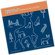 Clarity Stamps Groovi Parchment Embossing A6 Plate Stag Outline - FREE UK P&P
