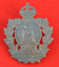 Canadian Army. 140th Battalion (St. John's Tigers), Genuine CEF Cap Badge