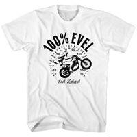 Evel Knievel Vintage Stars Vélo Hommes T Shirt American Daredevil Stunt les modes moto