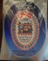 NIP Paragon Counted Cross Stitch Oval Hoop Kit The Christmas Collection 6284