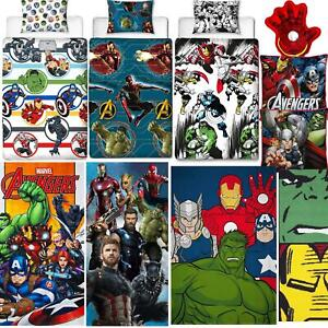 AVENGERS BEDDING MARVEL COMICS DUVETS TOWEL CUSHION BLANKET - SOLD SEPARATELY