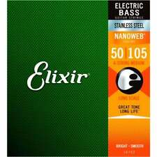 Elixir 14702 Nanoweb Electric Bass Strings Medium 50 - 105 Long Scale