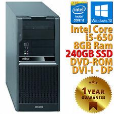 PC COMPUTER DESKTOP RICONDIZIONATO FUJITSU W380 i5-650 RAM 8GB SSD 240GB WIN 10