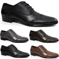 Mens Brogue Shoes Wedding Formal Casual Office Work Smart Dinner Suit Shoes Size