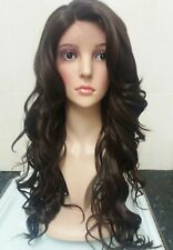 human hair lace wig, Swiss lace, silk based lace, hand tied, brown lace front