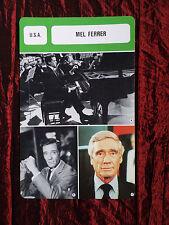 MEL FERRER - MOVIE STAR - FILM TRADE CARD - FRENCH