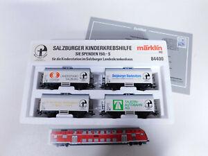 CQ521-1# Märklin H0/AC 84400 Wagen-Set Salzburger Kinderkrebshilfe KK NEUW+(OVP)