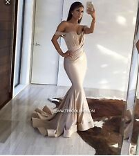 Walter Mendez Collection Custom Made Nina Evening Dress Strapless Gown New