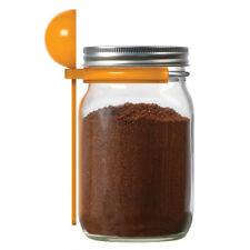 JarWare Mason Jar Coffee Spoon Scoop & Clip #82634 - Canning Jar Accessory