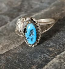 Native American Navajo Sterling Turquoise Ring Size 7