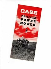 Early 1950s CASE TRACTOR TRAILER POWER MOWER US Small Brochure HAY CUTTER