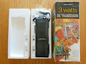 Realistic 21-185 3 watts solid state 4 channel portable CB Transceiver TRC-190