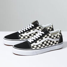 a5161020dc6 Vans Old Skool ( PRIMARY CHECK) BLK WHITE Shoes Classic Canvas Suede Fast