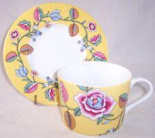 NEW Block Spal Izmir Yellow Floral Flat Cup & Saucer Set, Portugal