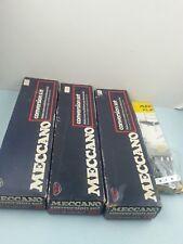 Caja de Conversión Vintage Meccano conjuntos de 1 x1, 2 x2 3 x3 paquete década de 1970