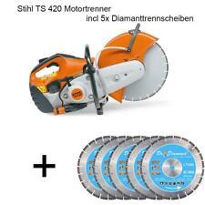 Stihl TS 420 Motortrenner incl 5x Diamanttrennscheiben Motorflex Trennschleifer