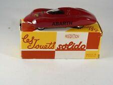 Solido 1109 Fiat Abarth 1961 réédition Hachette jamais joué en boite 1/43 MIB