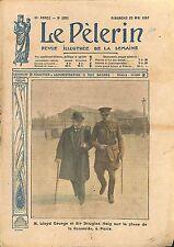Portrait David Lloyd George & Sir Douglas Haig Paris Place WWI 1917 ILLUSTRATION