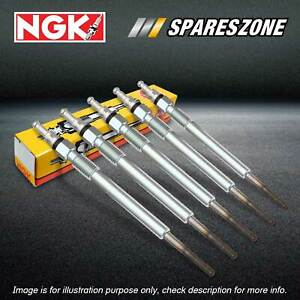 5 NGK Glow Plugs for Ssangyong Kyron Rexton Y200 Stavic 2.7L Diesel 04-13