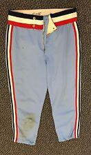 RICK SOFIELD 1979-1981 GAME USED MINNESOTA TWINS AWAY TEAM BLUE BASEBALL PANTS