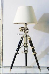 "POTTERY BARN 35"" Functional Desk Tripod Table Lamp, Restoration Hollywood Design"