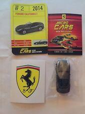 "DIE CAST FERRARI MICRO CARS "" CALIFORNIA T - 2014 "" USCITA N° 2 1/100 KYOSHO"