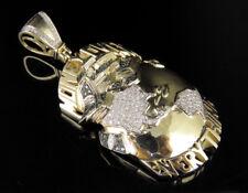 "10K Yellow Gold Real Diamond Money Over Everything MOE Pendant Charm 1 CT 2.75"""