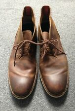 Mens Brown Leather Chukka Boot Size 10UK
