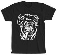 Camiseta Gas Monkey motos Mono Chimpancé Garage hombre moteros manga corta