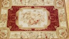 2.6 x 4 French Aubusson Hand Knotted Wool Needle Point Rug