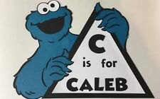 Personalized Sesame Street Cookie Monster Sign. You pick name. Birthday party
