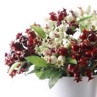 Weihnachten Mini Fake Fruit Beeren Künstliche Granatapfel Pflanzen Floral Zweig
