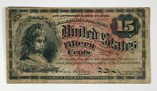U.S. Fractional Currency, 1863 4th Issue 15 Cents P-116 VF Fine-Ch.Fine Scrapes