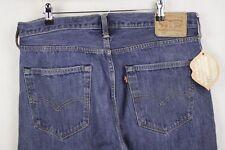 Mens Jeans Levis 501 Corte Recto cierre de botones azul W36 L30 2018 P31 Excelente