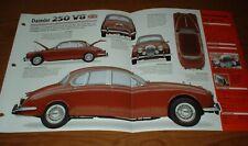 ★★1963 DAIMLER 250 V8 ORIGINAL IMP BROCHURE SPECS INFO 63 64 65 66 67 68 69★★