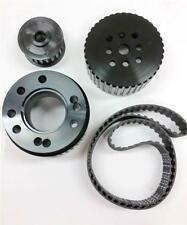 BBC Big Block Chevy Gilmer Belt Drive Pulley Set Black LONG WP Bonus Belt