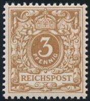 DR 1899, MiNr. 45 cb, tadellos postfrisch, gepr. Zenker, Mi. 130,-