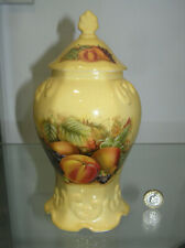 """BEAUTIFUL AYNSLEY ORCHARD GOLD DOME TOP LIDDED TEMPLE JAR POT 8.75""""  1ST QUALITY"""