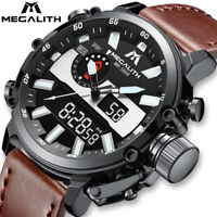 New Men Sport Military Watch Led Backlight Analog Quartz Multifunction Watch