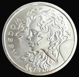 2013 Silver 2 oz .999 Fine Freedom Girl Listen to All Follow None Coin BU+